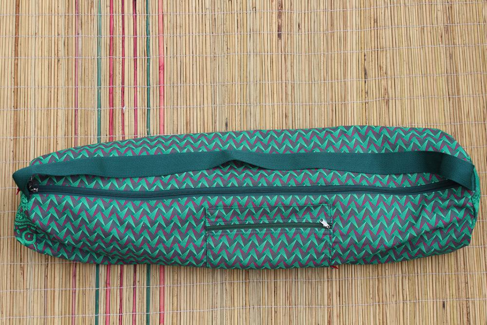 Emerald Zigzag Yoga Mat Bag